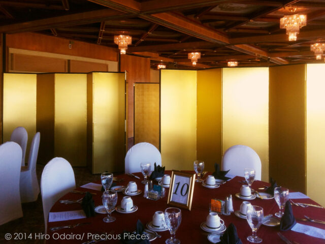 Gold Leaf Washi Screens for a Banquet Room