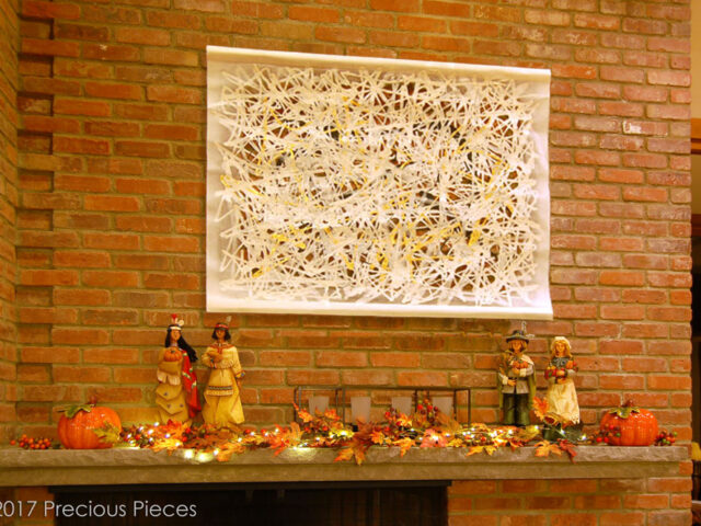 Washi Art Wall Piece for Modern Living Room