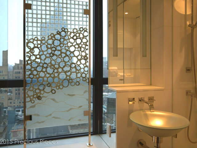 Laminated Glass Washi Screen for Central Park View Private Residence